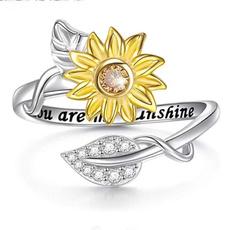 情侣戒指, sunshine, Sunflowers, Gifts
