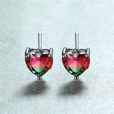 Heart, Love, heart earrings, gold