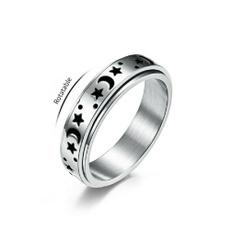 Couple Rings, Steel, bandring, Star
