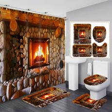 Shower, Bathroom, bathroomdecor, fireplacepattern
