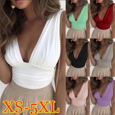 Plus Size, crop top, Lace, Pure Color