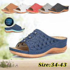 Sandals, Hollow-out, Breathable, Vintage