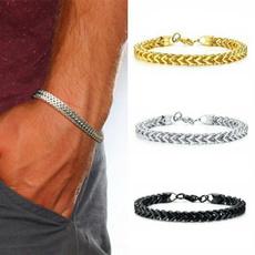 Charm Bracelet, wristbandbracelet, titanium steel, Gifts For Men