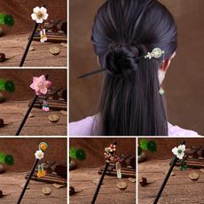 Tassels, hair jewelry, Wooden, Hair Pins