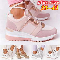 wedge, Sneakers, Plus Size, Platform Shoes
