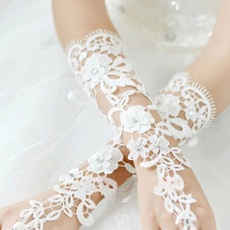 fingerlessglove, party, Flowers, Lace
