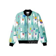 Plus Size, floraljacket, Sleeve, casualbomberjacket