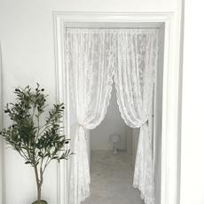 Decor, Door, Lace, lacecurtain