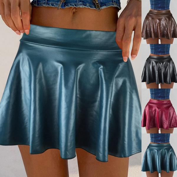 leathershortskirt, ladieswarmskirt, Mini dress, Mini