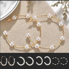 Jewelry, Pearl Earrings, pearls, gold