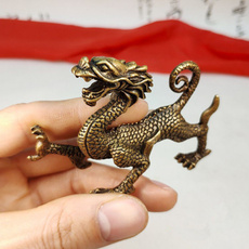 Brass, Home & Kitchen, Chinese, dragonornament