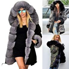 casual coat, Fashion, fur, Winter