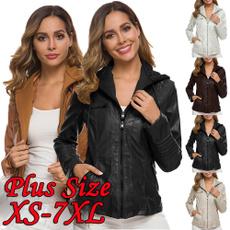 Fashion, hooded, leather, wintercoatsforwomen