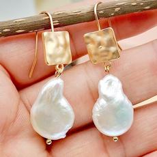 Dangle Earring, Gemstone Earrings, Pearl Earrings, pearldangleearring