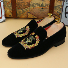 Fashion, leather shoes, genuine leather, Slip On Shoes