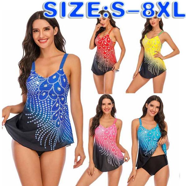 bathing suit, Plus Size, halter dress, Padded bathing suit