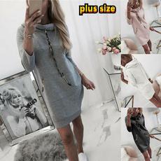 Midi Dresses, Sleeve, pullover sweater, Long Sleeve