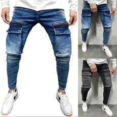 men jeans, Plus Size, men trousers, pants