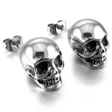 Steel, 925 sterling silver, punk earring, Jewelry