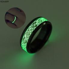 Steel, Couple Rings, wedding ring, luminousring