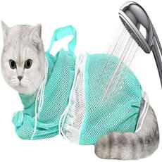 Bath, catbathingmeshbag, Polyester, catshower
