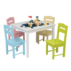 studentdesk, Colorful, Wooden, kidswoodchair