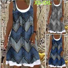 Summer, printeddres, women dresses, plus size dress