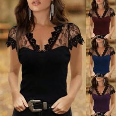 blouse, Summer, Plus Size, Encaje