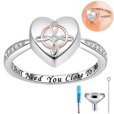 Sterling, Heart, Celtic, keepsakejewelry