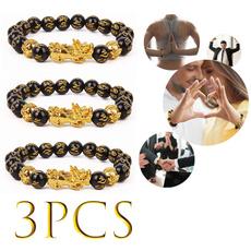 fengshuiblackobsidianbracelet, Jewelry, Elastic, unisex