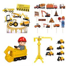 boybirthdayparty, excavatorcaketopper, constructioncakedecoration, constructionparty