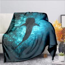 Shark, bedblanket, Office, Picnic