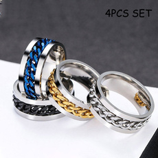 Sterling, Men, wedding ring, spinnerring