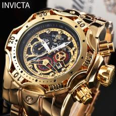 Chronograph, golden, dial, Fashion
