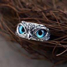 Blues, Owl, eye, Jewelry