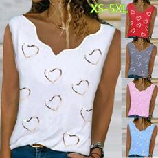 Summer, Vest, Plus Size, Love
