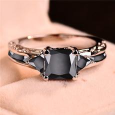 White Gold, Fashion, crystal ring, wedding ring