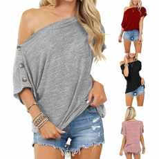 shirtsforwomen, Summer, strapless, Plus Size