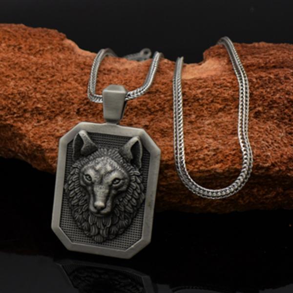 Steel, Party Necklace, Head, mens necklaces
