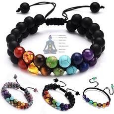 doublelayeredbracelet, healingbracelet, 7chakra, chakrabracelet