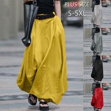 long skirt, Fashion, looseskirt, autumnskirt