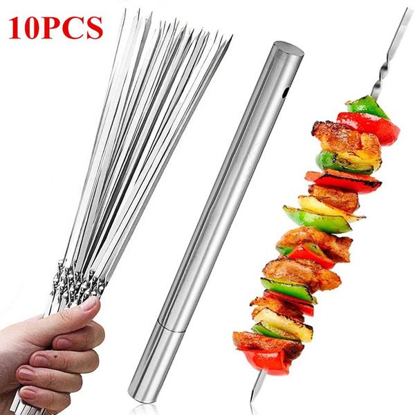 barbecueskewer, Steel, Kitchen & Dining, kebabstick