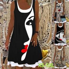 Summer, dressesforwomen, Necks, women dresses