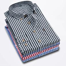 plaid, Dress Shirt, Sleeve, Long Sleeve