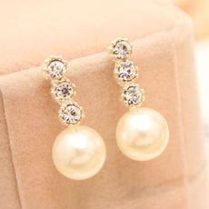 Fashion, Crystal, Pearl Earrings, pearls