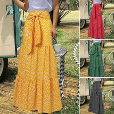 long skirt, Plus Size, Umbrella, long dress