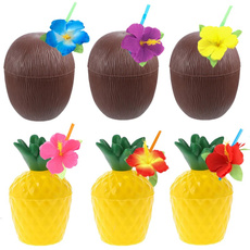 Summer, Hawaiian, pineapplecup, coconutcup