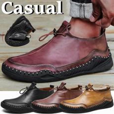 casual shoes, dress shoes, Plus Size, flatleathershoe