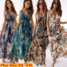 Summer, Fashion, Swing dress, long dress