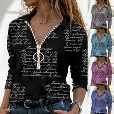 shirtsforwomen, Fashion, letter print, Women Blouse